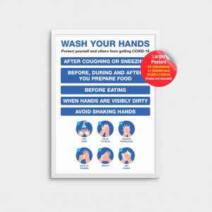 Information Poster Wash Your Hands COV07