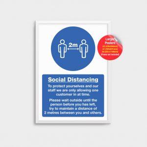 Information Poster Social Distancing COV05