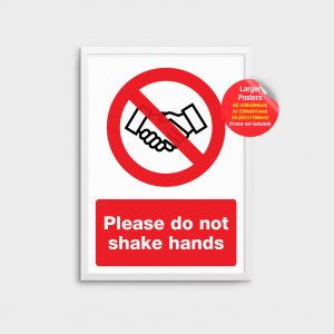 Information Poster Don't Shake Hands COV03